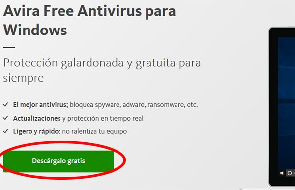 Descargar Avira antivirus gratis