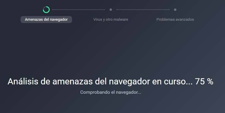 progreso de analisis antivirus