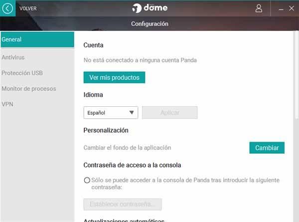 Configurar PANDA antivirus free