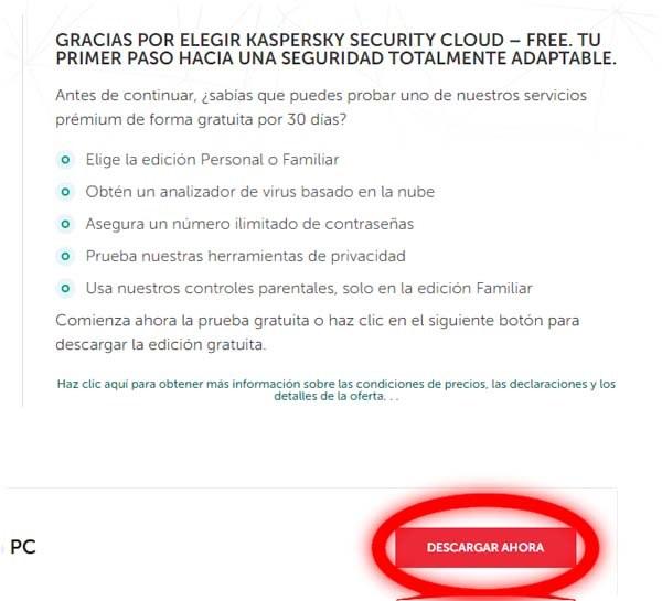 descargar Kaspersky free