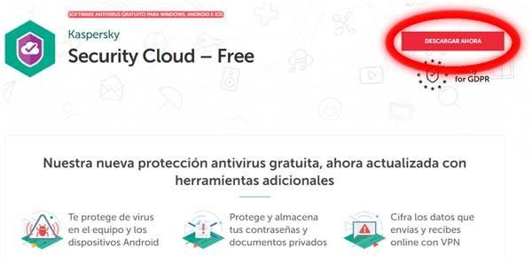 descargar Kaspersky antivirus gratuito