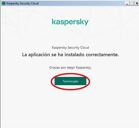 finalizar instlacion kaspersky antivirus gratis