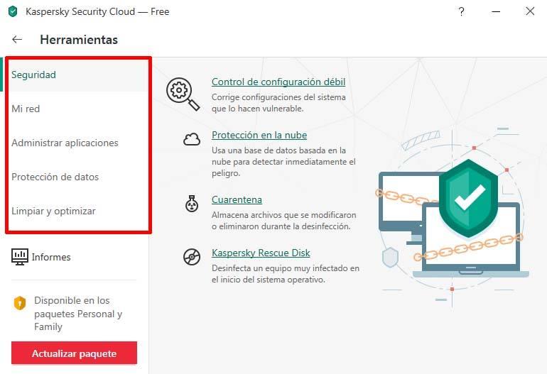 herramientas Kaspersky cloud