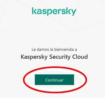 Inicio instalacion Kaspersky