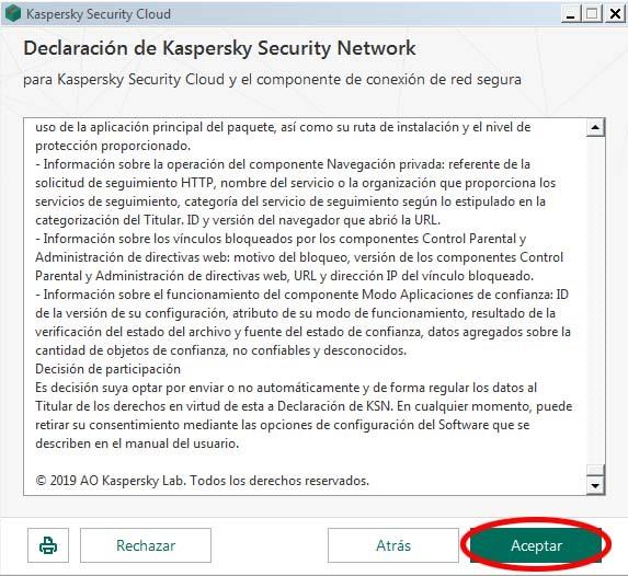 instalacion kaspersky security cloud