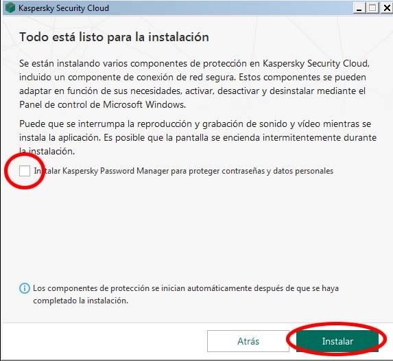 instalar kaspersky password Manager